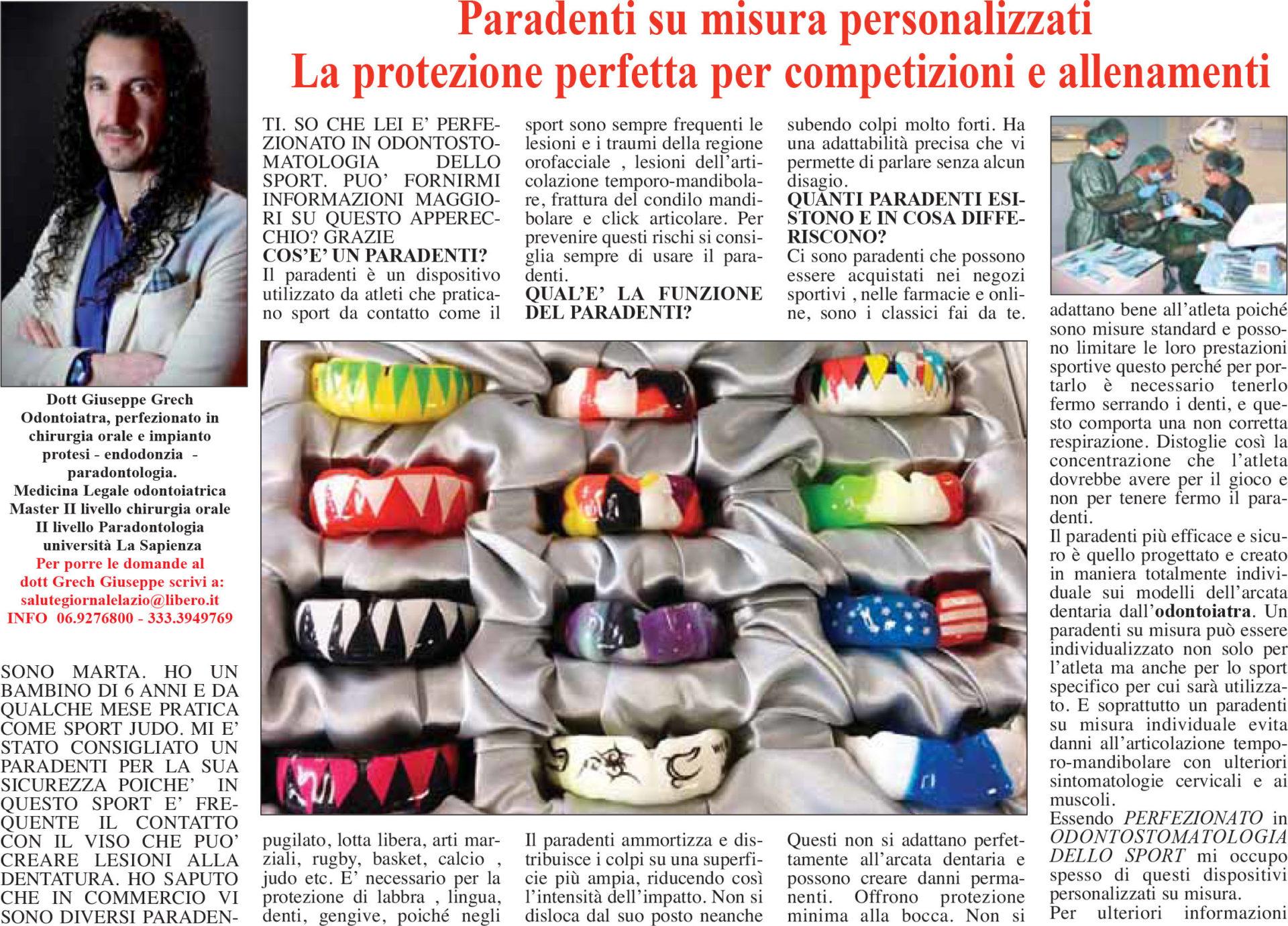 Grech giornale del Lazio